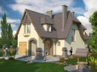 Проект просторного живописного дома с гаражом и мансардой